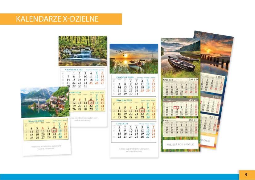 kalendarze x-dzielne warszawska-drukarnia